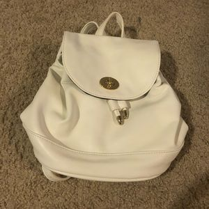 Forever 21 White Mini Backpack
